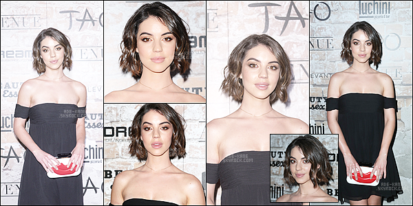 ". 16/03/17 : Adelaide était à la soirée ""TAO, Beauty and Essex, Avenue + Luchini LA Grand Opening"". ."