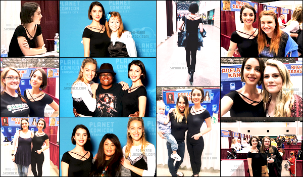 . 28/04/17 :Adelaide Kane était présente au1er jour du« Planet Comicon» à Kansas City! Notre Adelaide était accompagner de Rachel Skarsten ! .