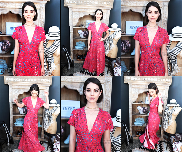 . 15/06/17- Notre belle Adelaide Kane était présente à une soirée,à Los Angeles! Cette soirée était organisée par The Zoe Report et French Connection. .