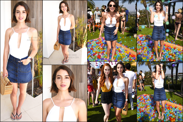 . 24/06/17- Notre belle Adelaide était présente à la fête Reef Kicks Off Summer,à Los Angeles! Pour sa tenue un top. Elle porte un dessus de maillot de bain, ainsi qu'une jupe, ça lui va donc très bien ! .