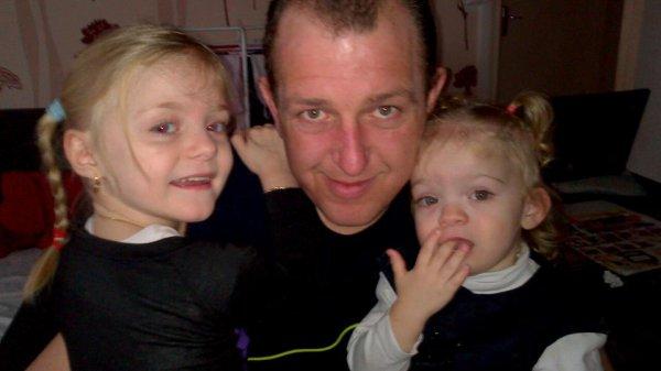 mes deux fille avec le parrain