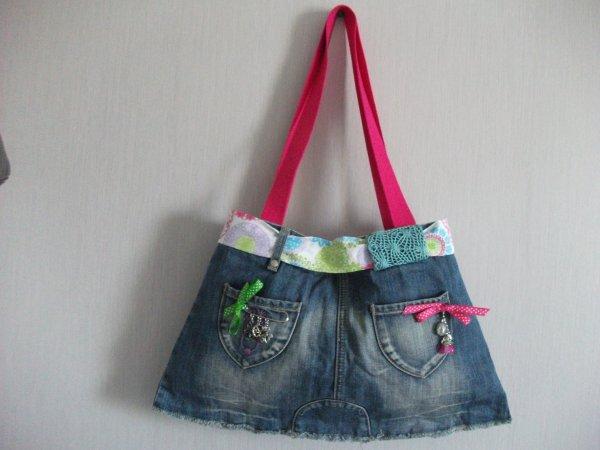 Sac en Jeans multicolore
