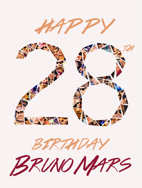 Happy Birthday Bruno Mars !
