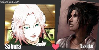 Sakura   ♥ Sasuke      « Aimer c'est savoir retenir ses larmes quand il passe devant vous sans même se retourner... »