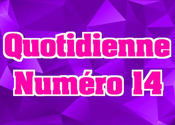 Quotidienne N°14