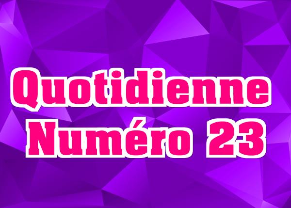 Quotidienne N°23