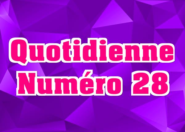 Quotidienne N°28