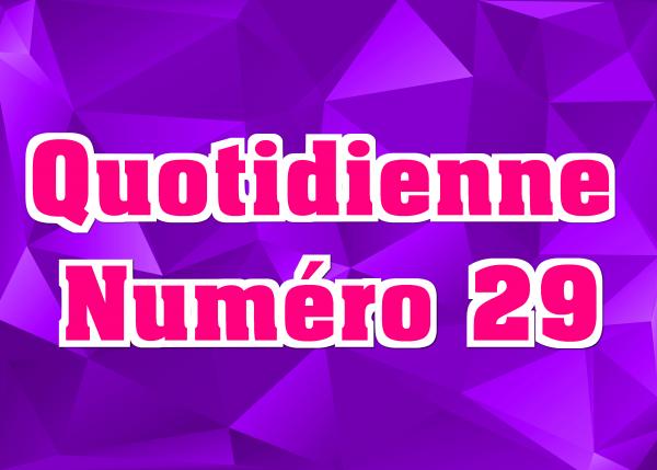 Quotidienne N°29