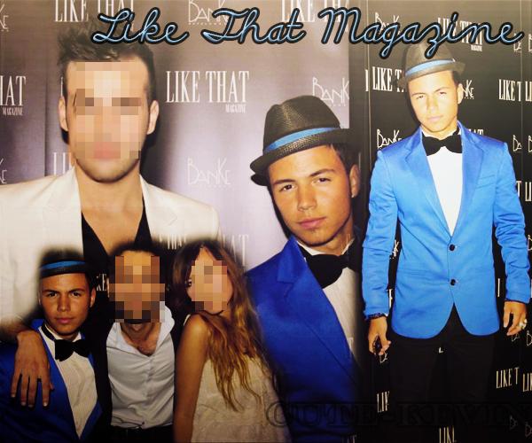 """Kévin était présent à la soirée """" Like That Magazine """" . Merci à RaphaelHererias pour le montage car je n'ai plus mes logiciels :(<3"""