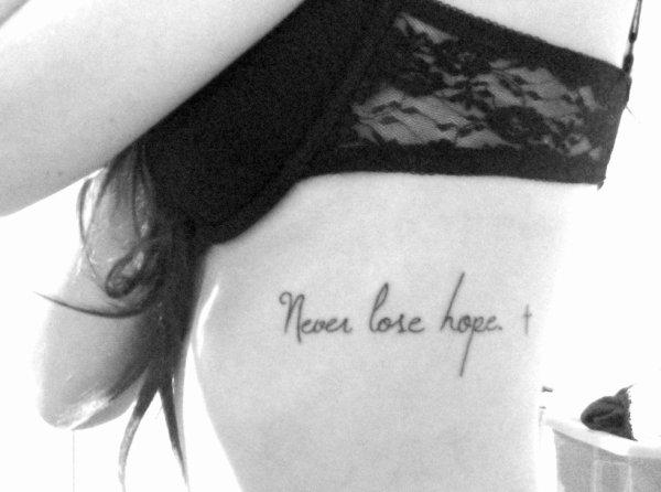 Ne Jamais perdre espoir