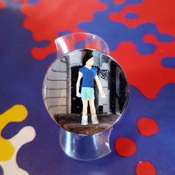 """bague """"RDV"""" figurine et image"""