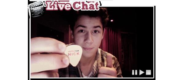 . 26 Février: Nick donne un livechat en direct de Miami sur Cambio. Ahh les livechat comme on les aime! Des infos, de la musique, des blagues etc. Et tout ça grâce à Nick J!.