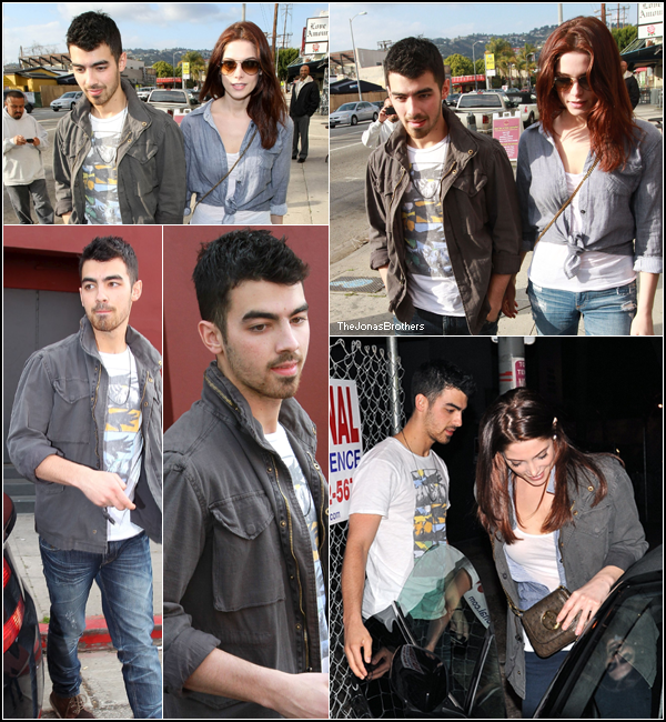 . 24 Février: Joe et Ashley se baladent en Amoureux dans les rue de Beverly Hills .