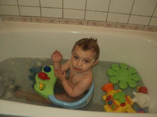 Enzo au bain