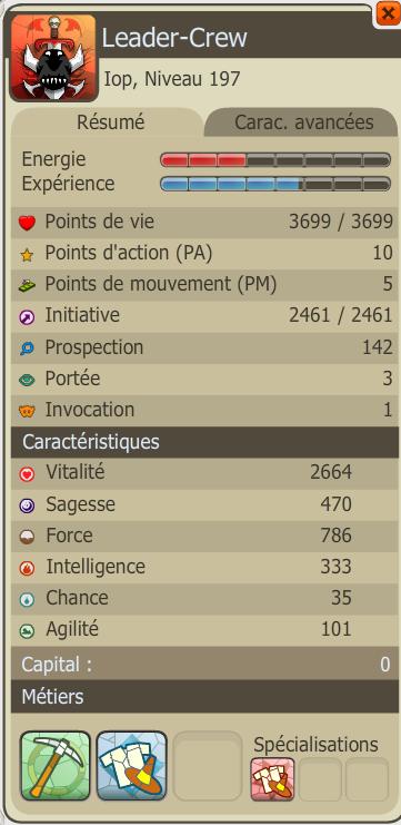Les carac' du iop (: