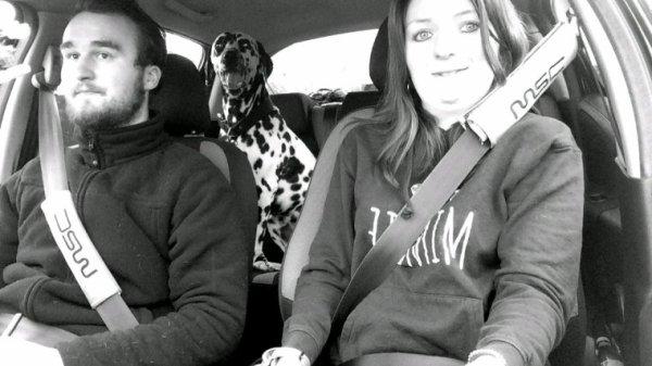 Pongo (notre chien à moi et Alexandre)
