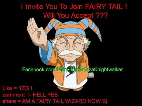 Je vous invite à rejoindre Fairy Tail ! Accepterez Vous ?