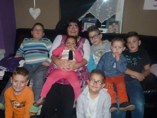moi et mes petits enfants que j'adore