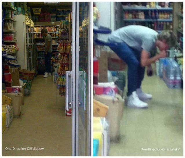 Niall dans un super marché le 20/07/12 ♥