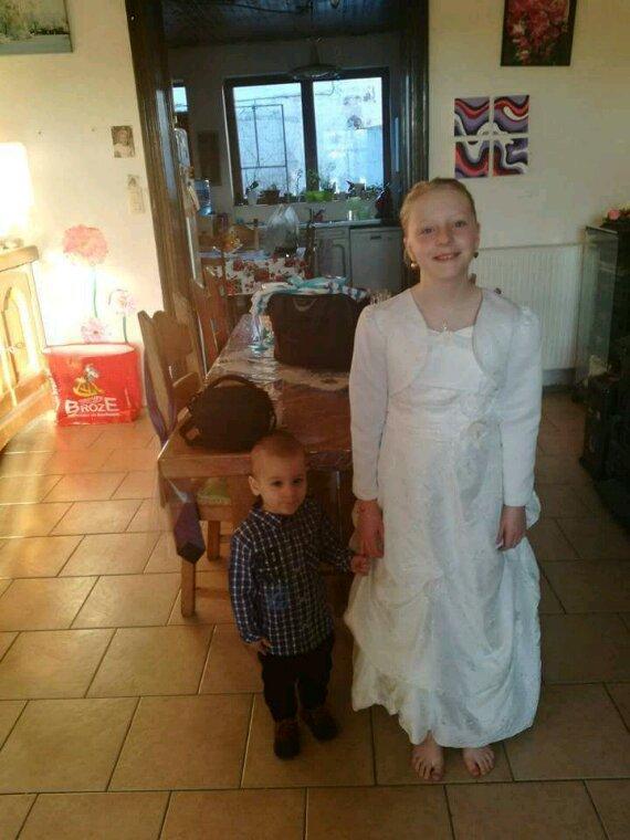 Mon fils ezzio, ma petite soeur Chloé, et moi