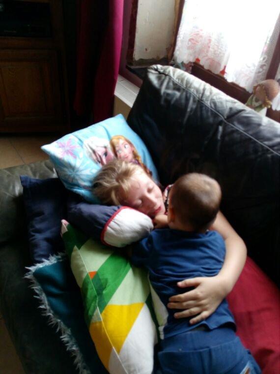 Mon fils ezzio et sa marraine Chloé