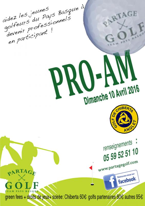 DIMANCHE 10 AVRIL 2016 PRO-AM AU GOLF DE CHIBERTA