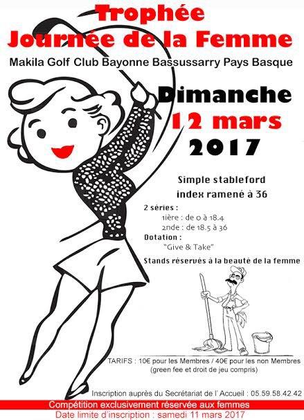DIMANCHE 12 MARS 2017     TROPHEE DE LA JOURNEE DE LA  FEMME