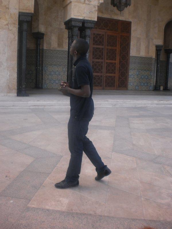 une petite visite dans la mosquée  de casablanca.la plus grande d afrique