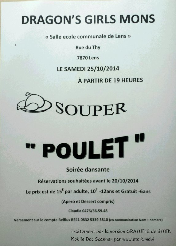 Souper Poulet du club !