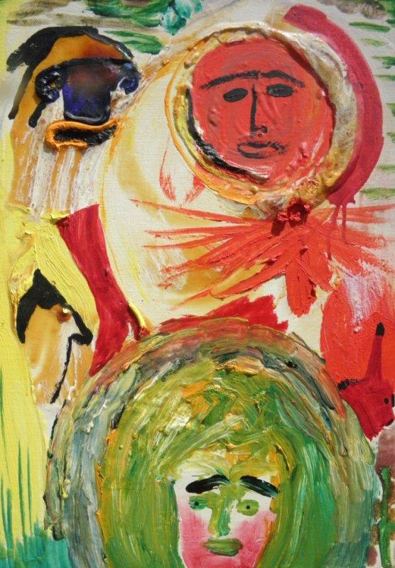 """""""Un Soleil Et Son Ombre"""", huile sur toile, appartenant à la Série Manifeste """"Pour ART DE L4EXTREME / GEST'ART, bientôt exposée à NewYORK (Chelsea)"""