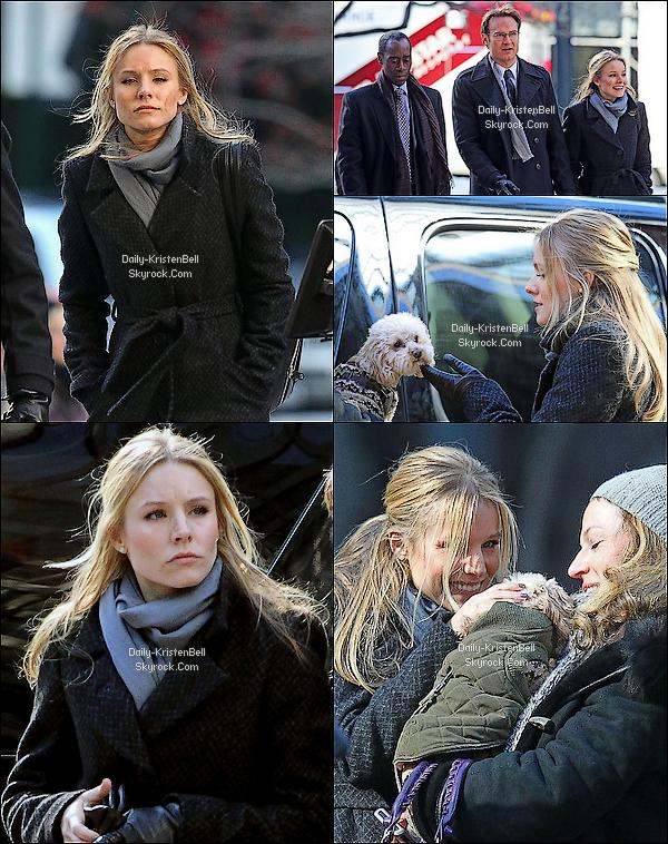 . 06/02/2011__Kristen Bell est enfin sortie de son trou pour se rendre sur le tournage du pilot de House of lies..