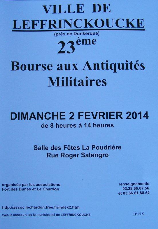 bourse aux armes de Leffrinckoucke le 02/02/2014