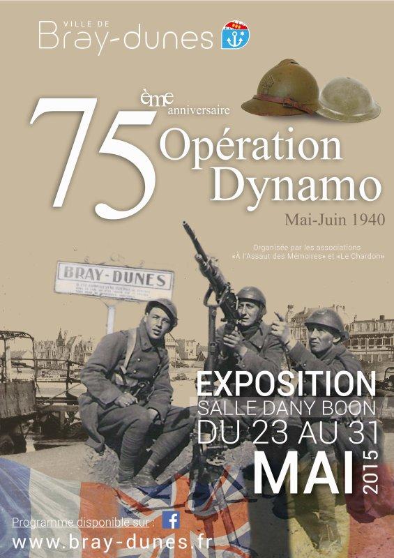exposition 75e anniversaire operation Dynamo à  Bray-dunes ( dunkerque )