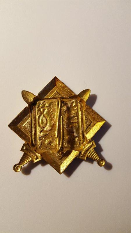 Insigne tchèque ( vue de l'arrière )