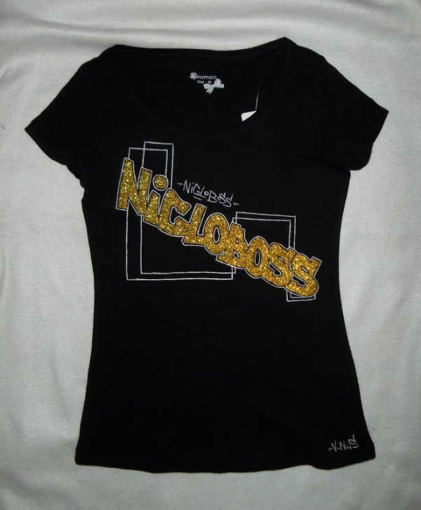 NEW TEE - SHIRT NIGLOBOSS POUR FEMME ;) couleur or