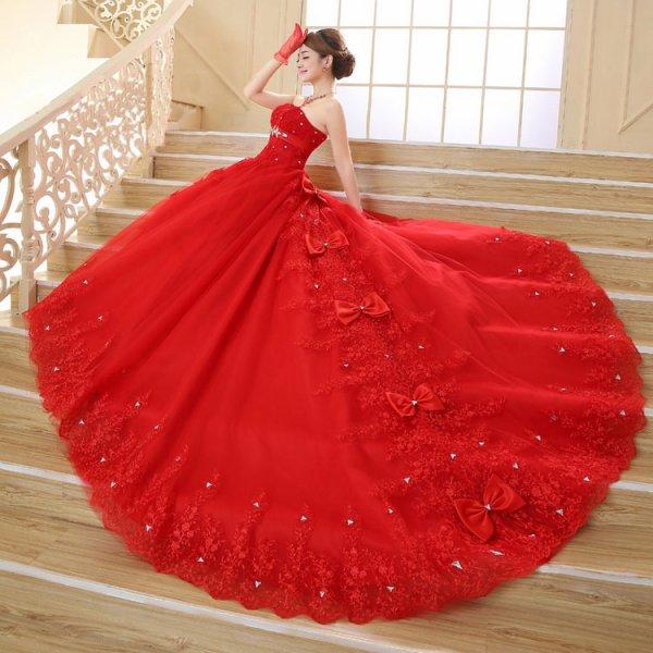 robe de mariée rouge