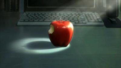 Une pomme acide comme le monde