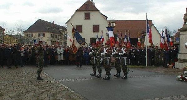 commémoration de la libération de Jebsheim