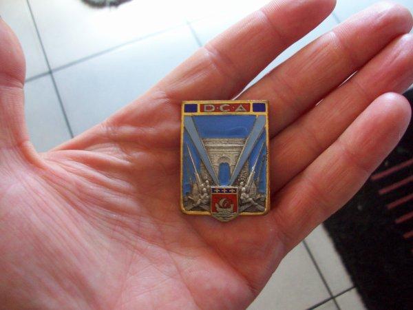 insigne commandement  DCA paris avant guerre