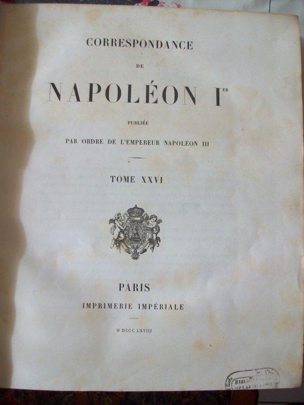 correspondances de Napoléon