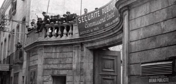 Avant/Après Pendant la libération de perpignan (Sud de la France)