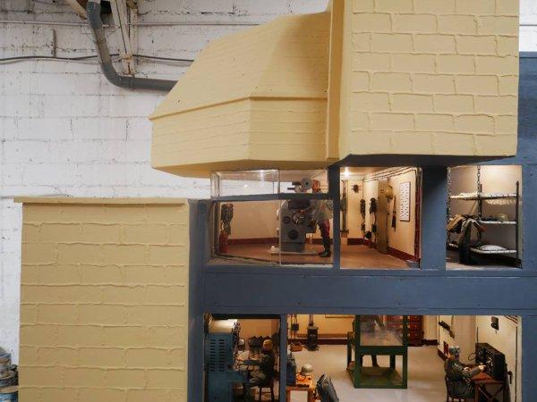 maquette du Grand Bunker de Ouistreham