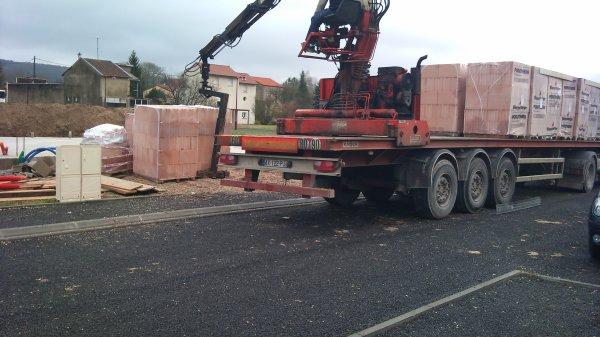 la livraison des briques ce matin
