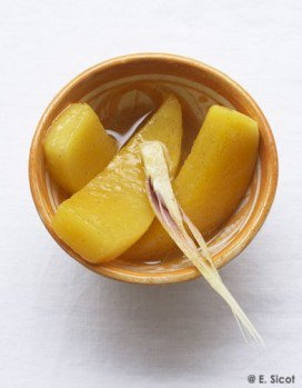 Mangue rôtie à la vanille