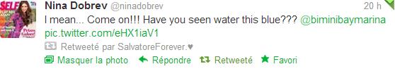 """Twitter Time"" Nina Dobrev"