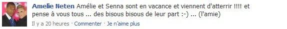 Des Nouvelles d'Amélie via son Facebook !