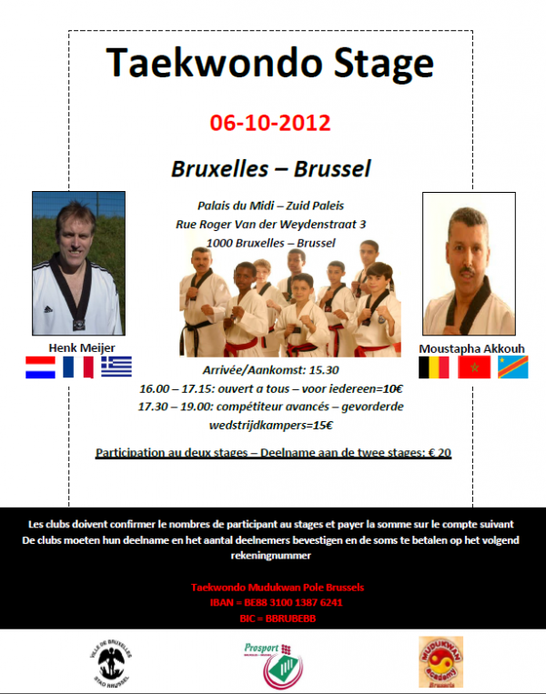 Stage Taekwondo 6 octobre 2012
