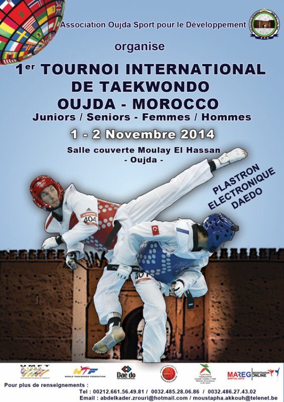1erTournoi International de Oujda  1-2 Novembre 2014