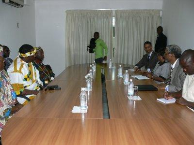sa Majesté Tchiffi Zie en séance de travail avec l'UA à Abidjan