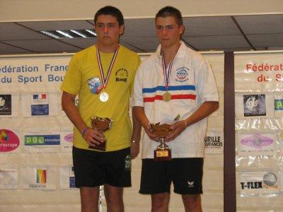 Saison 2009-2010 : Champion de France Simple moins de 15 ans